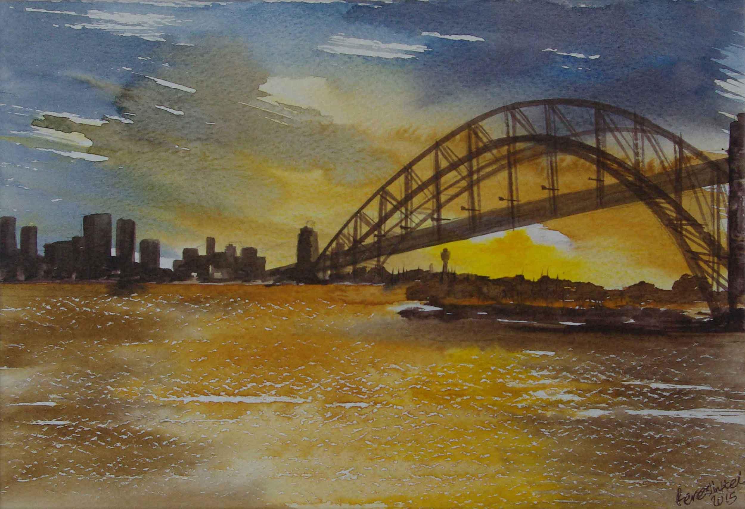 'Harbour Bridge's sunset'