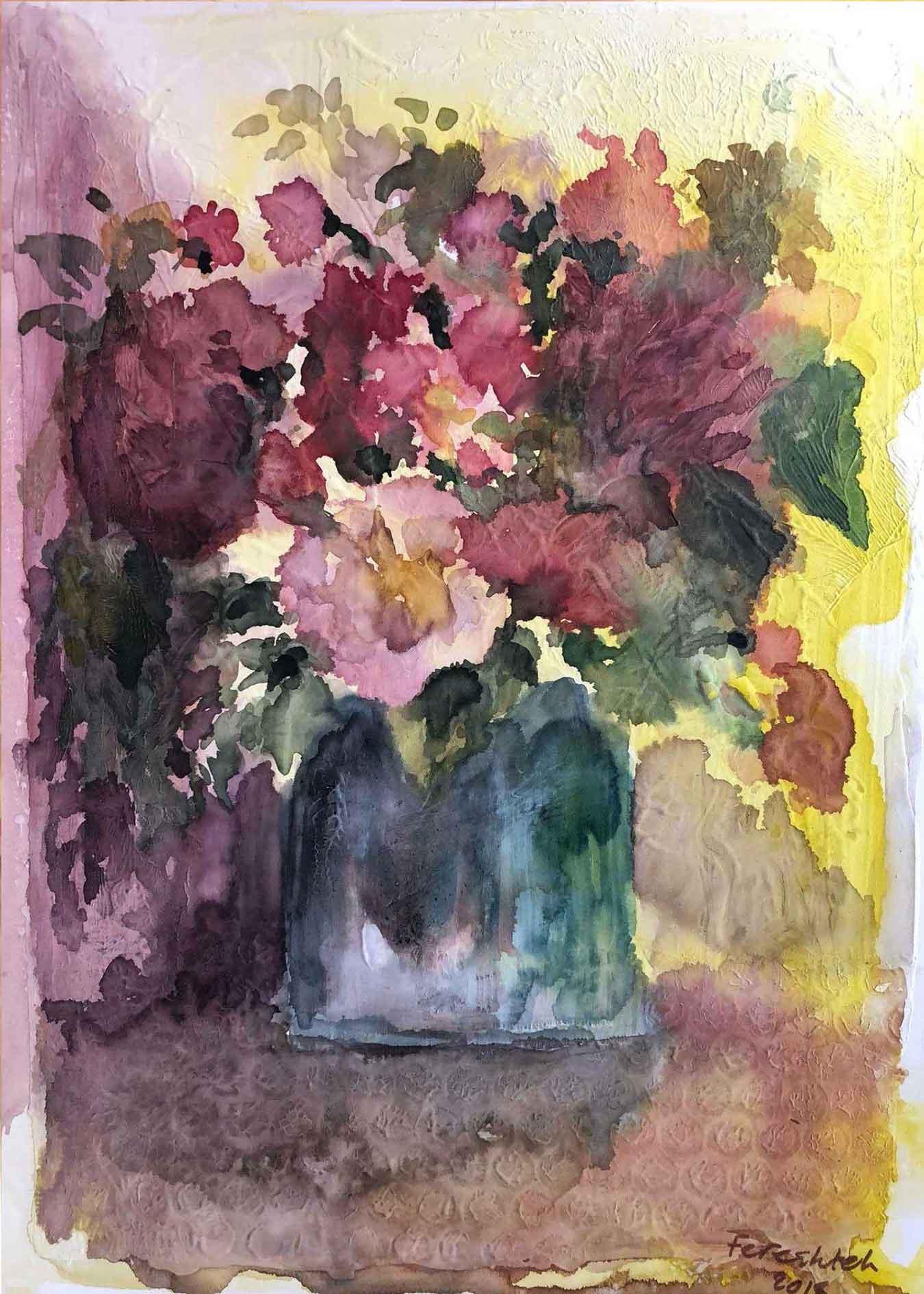 "4- ""Dream Flowers"" On MDF Panel"